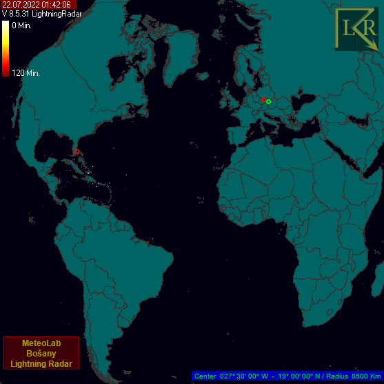 Mapa bleskovej aktivity